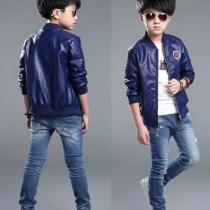 1-pilot Style Leather Jacket for kids