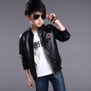 2-pilot Style Leather Jacket for kids