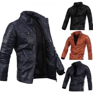 5-CYSINCOS Motorcycle Men Leather Jackets Coats