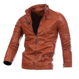 CYSINCOS Motorcycle Men Leather Jackets Coats