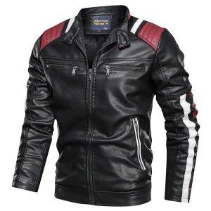 Jacket Leather Men sport-3