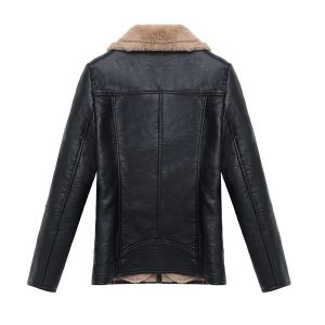 Leather Coat Women Winter-1