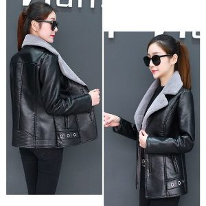 Leather Coat Women Winter-3