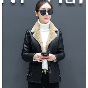 Leather Coat Women Winter-4