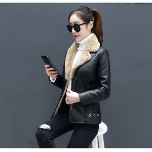 Leather Coat Women Winter-6