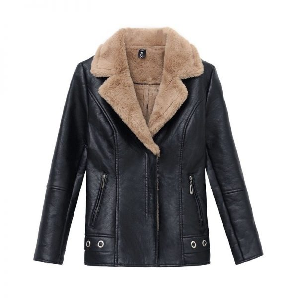 Leather Coat Women Winter