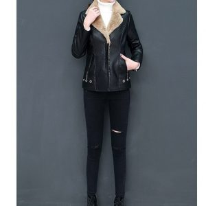 Leather Coat Women Winter-7