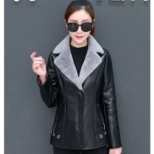 Leather Coat Women Winter-9