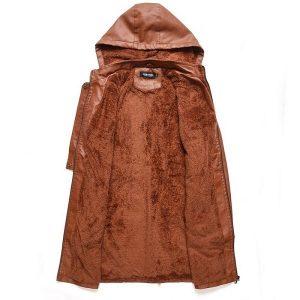 Leather Jacket Women Long Zipper 2020-5