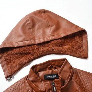 Leather Jacket Women Long Zipper 2020-7