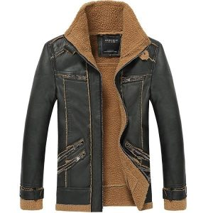 Leather Mens Jacket Moto-2
