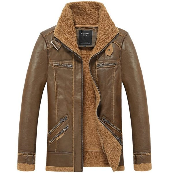 Leather Mens Jacket Moto
