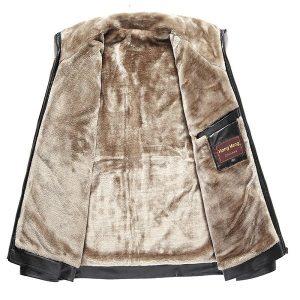 jacket leather men winter zipper-5