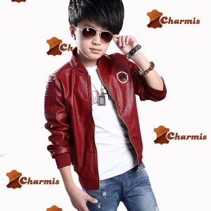 pilot Style Leather Jacket for kids-3