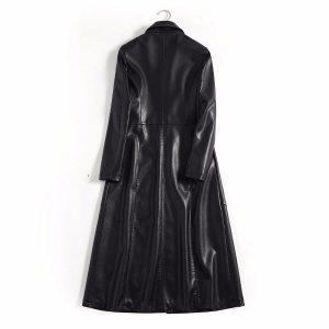 Leather Women Jacket X-Long-1