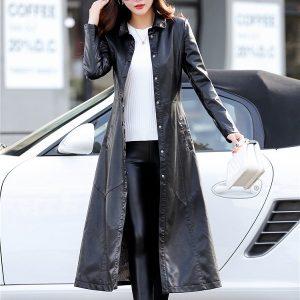 Leather Women Jacket X-Long-3