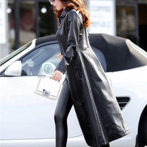 Leather Women Jacket X-Long-4