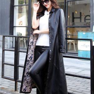 Leather Women Jacket X-Long-5