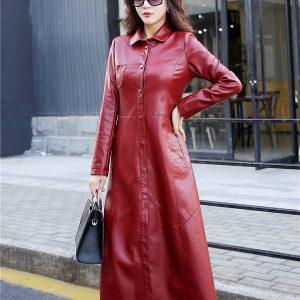 Leather Women Jacket X-Long-6