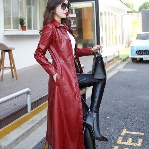 Leather Women Jacket X-Long-7