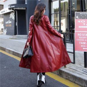 Leather Women Jacket X-Long-8