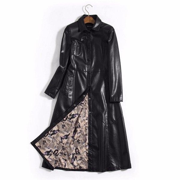 Leather Women Jacket X-Long