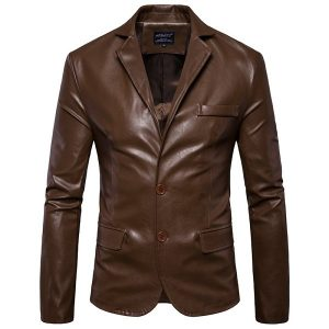 Leather jacket Men's-1