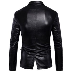Leather jacket Men's-4