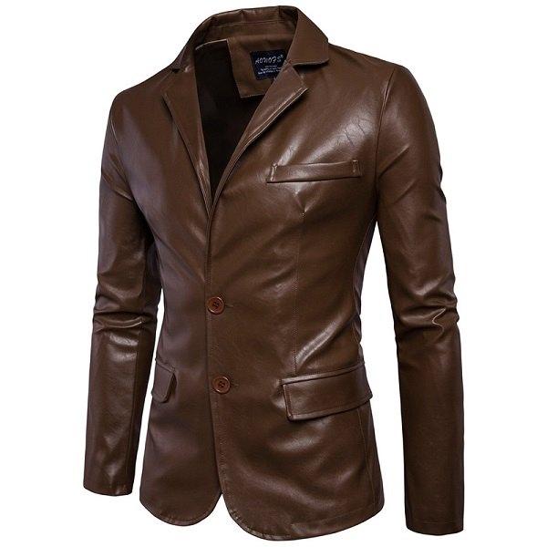 Leather jacket Men's
