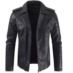 Men's leather Coat-1