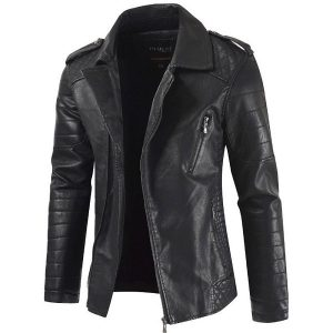 Men's leather Coat-2
