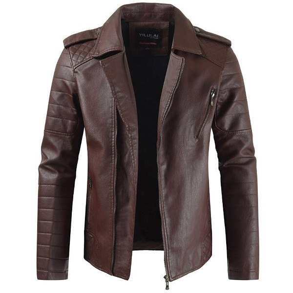 Men's leather Coat-4