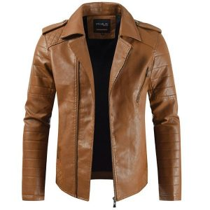 Men's leather Coat-5