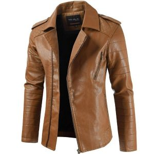 Men's leather Coat-6