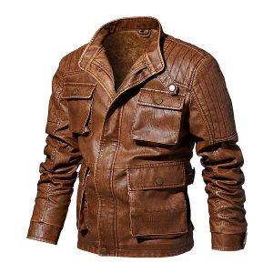 Men's leather jacket-1