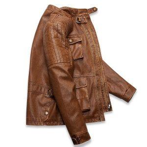 Men's leather jacket-2
