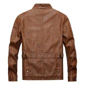 Men's leather jacket-3