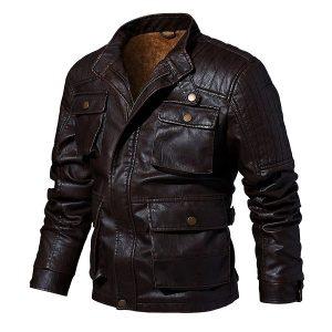 Men's leather jacket-4