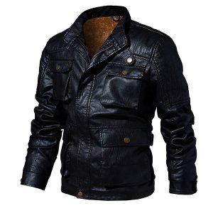 Men's leather jacket-5