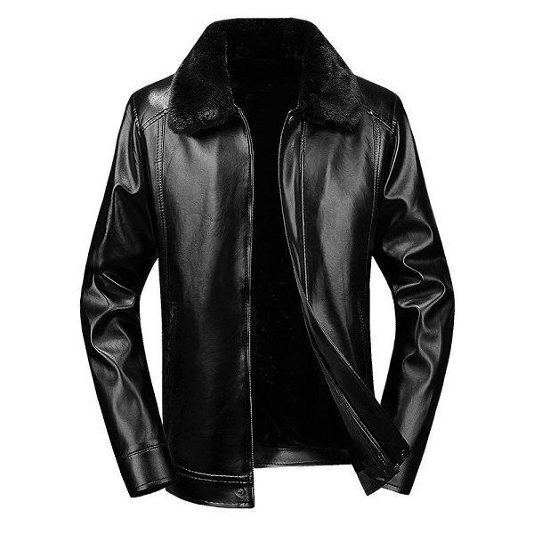 PU Men's Leather Jacket -3