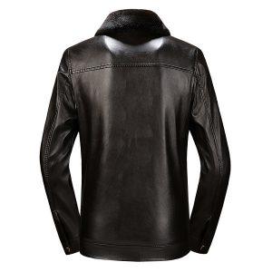 PU Men's Leather Jacket -4