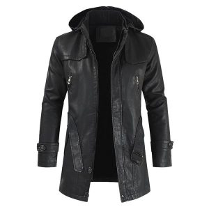 Winter Men's leather jacket-1