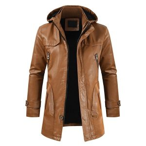 Winter Men's leather jacket-2