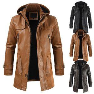 Winter Men's leather jacket