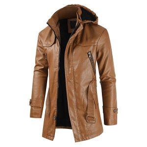 Winter Men's leather jacket-6