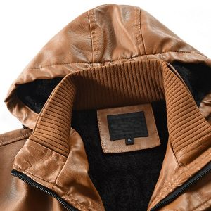 Winter Men's leather jacket-8