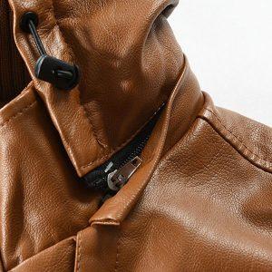 Winter Men's leather jacket-9