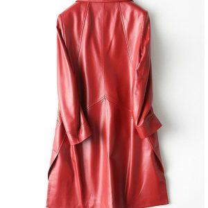 Leather Jacket Female Long-1.