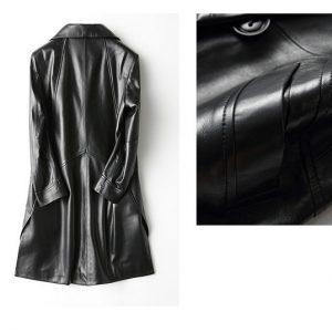 Leather Jacket Female Long-4