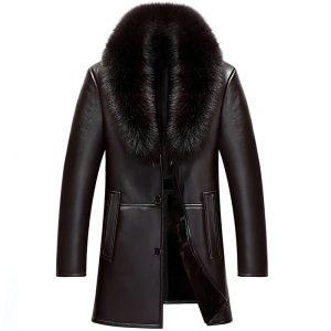 Leather Mens Coat -1